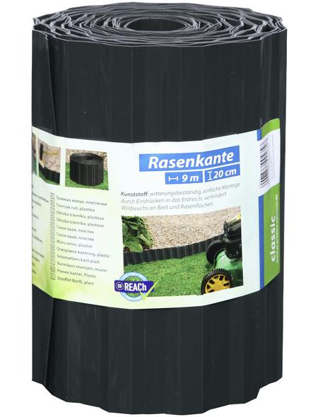 FLORAWORLD Rasenkante, HxL: 20 x 900 cm, Polyethylenterephthalat (PET)