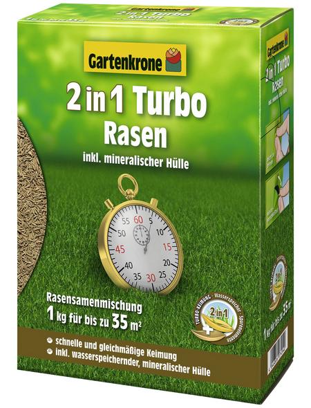 GARTENKRONE Rasensamen »Rasensamen 2-in-1 Turborasen 1 kg«