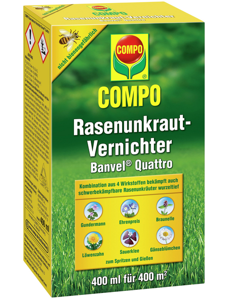 COMPO Rasenunkrautvernichter Banvel® Quattro 400 ml