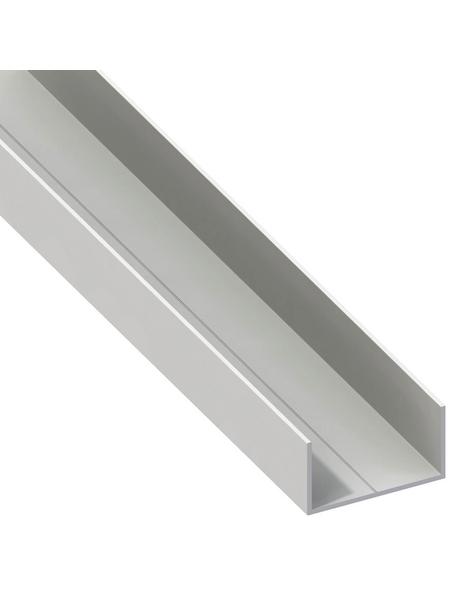 alfer® aluminium Rechteck-U-Profil, Combitech®, LxBxH: 2500 x 27,5 x 15,5 mm, Polyvinylchlorid (PVC)