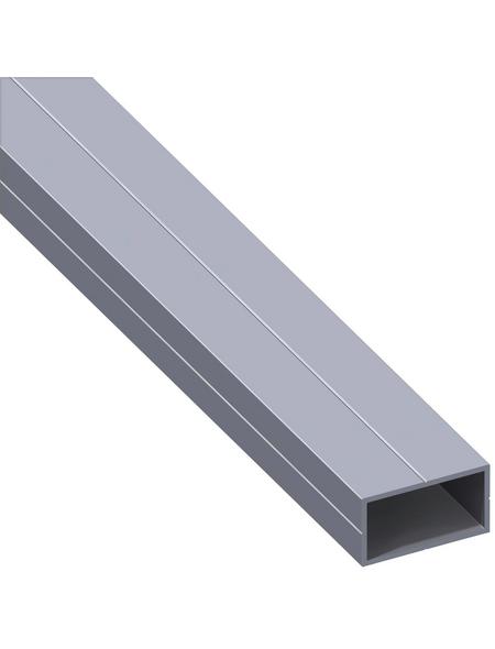 alfer® aluminium Rechteckrohr, Combitech®, 1000 x 35,5 x 35,5 x 1,5 mm, Silber, Aluminium