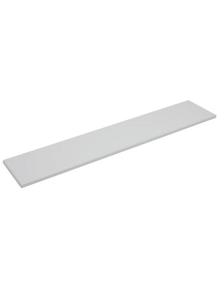 Duraline Regalboden »4XS XS2«, BxT: 118 x 23,5 cm, Mitteldichte Faserplatte (MDF), weiß