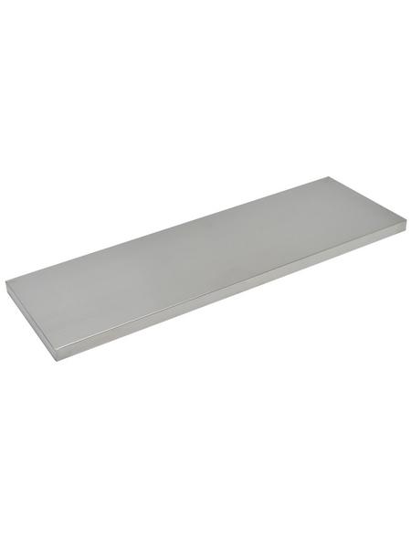 Duraline Regalboden »4XS XS2«, BxT: 60 x 20 cm, Mitteldichte Faserplatte (MDF), edelstahlfarben