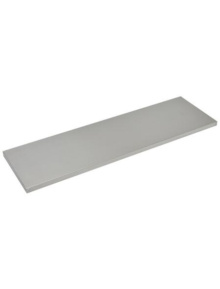 Duraline Regalboden »4XS XS2«, BxT: 80 x 23,5 cm, Mitteldichte Faserplatte (MDF), edelstahlfarben