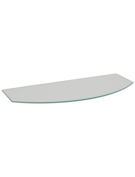 Duraline Regalboden, BxT: 60 x 15 cm, Sicherheitsglas, transparent