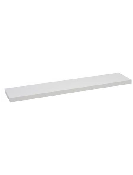 Duraline Regalboden »XL4«, BxT: 118 x 23,5 cm, Mitteldichte Faserplatte (MDF), weiß