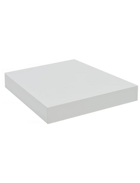 Duraline Regalboden »XL4«, BxT: 23,5 x 23,5 cm, Mitteldichte Faserplatte (MDF), weiß