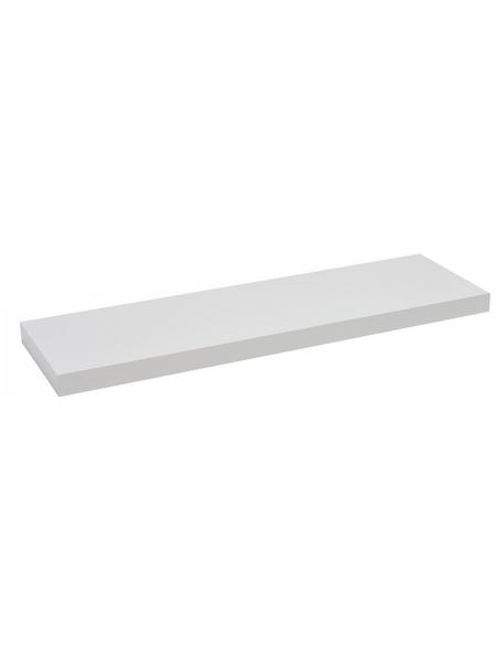 Duraline Regalboden »XL4«, BxT: 80 x 23,5 cm, Mitteldichte Faserplatte (MDF), weiß
