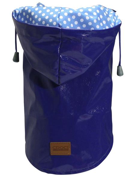 Amtra Regenmantel, für Hunde, blau, mit Gummiband, Muster: Punkte