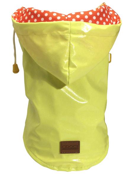 Amtra Regenmantel, für Hunde, gelb, mit Gummiband, Muster: Punkte