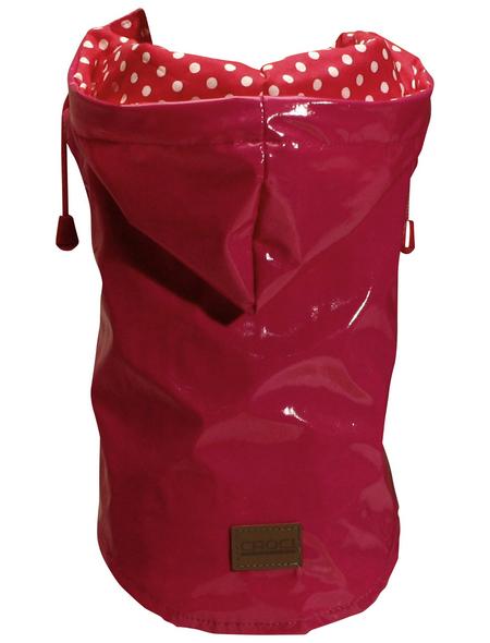 Amtra Regenmantel, für Hunde, rot, mit Gummiband