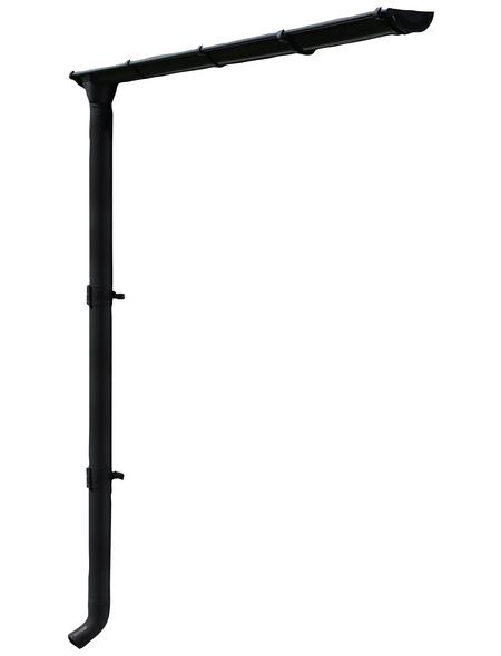 SKANHOLZ Regenrinnenset, Stahl, B x H: 78,5 x 251 cm