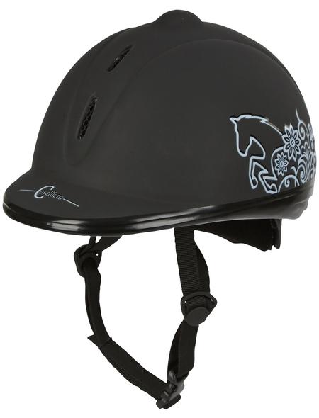 Covalliero Reithelm Beauty VG1, Größe: 52 - 55 cm, schwarz