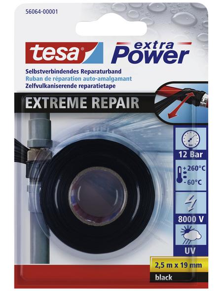TESA Reparaturband, schwarz, Breite: 1,9 cm, Länge: 2,5 m