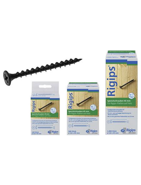 RIGIPS Rigipsschrauben, ØxL: 3,8 x 45 mm, phosphatierter Stahl, 100 Stück