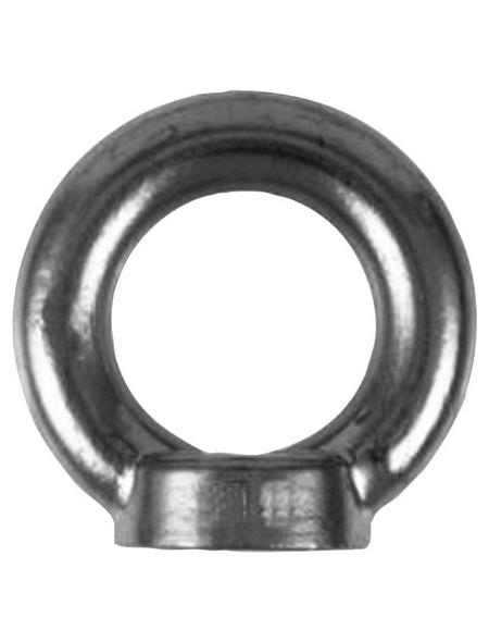 SEILFLECHTER Ringmutter, M8, Silber, Edelstahl
