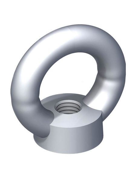 alfer® aluminium Ringmutter, M8, Silber, Stahl