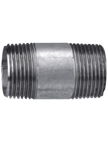CORNAT Rohr-Nippel, Nr. 530, beidseitig konisches Außengewinde, 1 Z AG x 60 mm