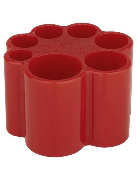 SANITOP-WINGENROTH Rohrtiefenlehre, Kunststoff, rot