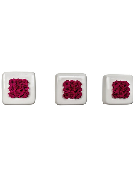 Rosen in Keramik »Infinity-Bloom«, 3er-Set, rosa