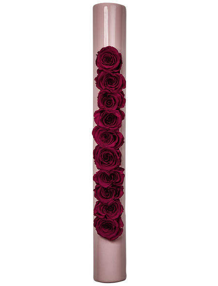 Rosen in Keramik »Infinity-Bloom«,  bigTube, rosa/berry, BxHxT: 65 x 7,5 x 11  cm