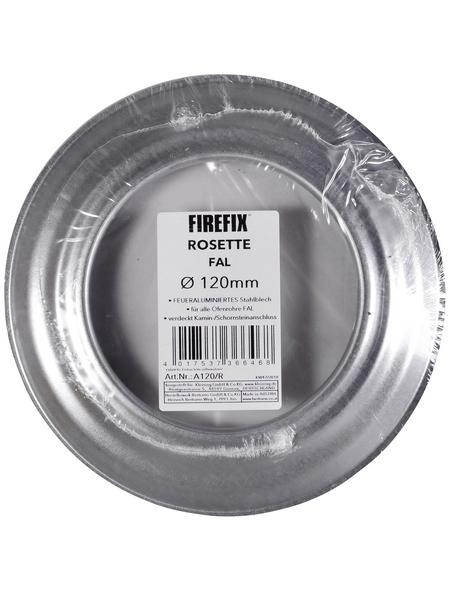 FIREFIX® Rosette, Ø: 12 cm, Stärke: 0,6 mm, Stahl
