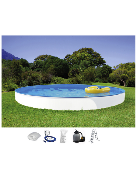 SUMMER FUN Rundbecken-Set Rundbeckenset , rund, Ø x H: 450 x 105 cm