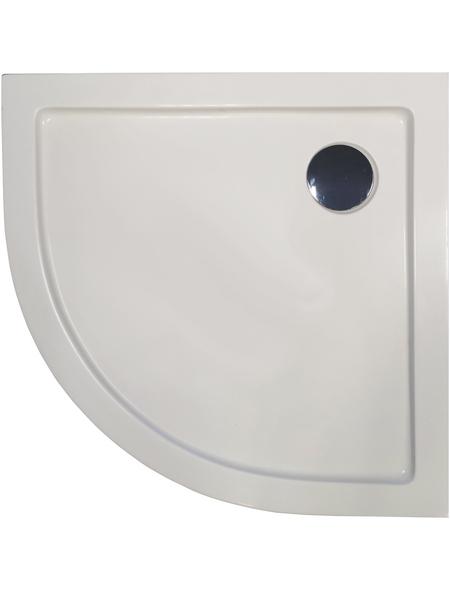 SANOTECHNIK Rundduschwanne, BxT: 80 x 80 cm, weiß