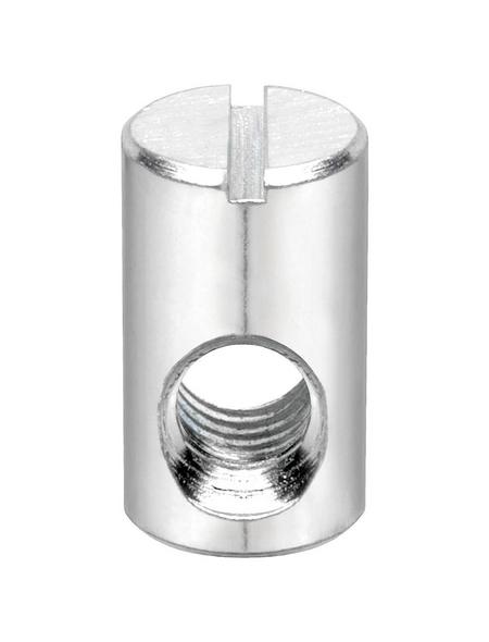 CONNEX Rundmuttern, M6 / 10 x 17 x 11 mm, Silber, Stahl
