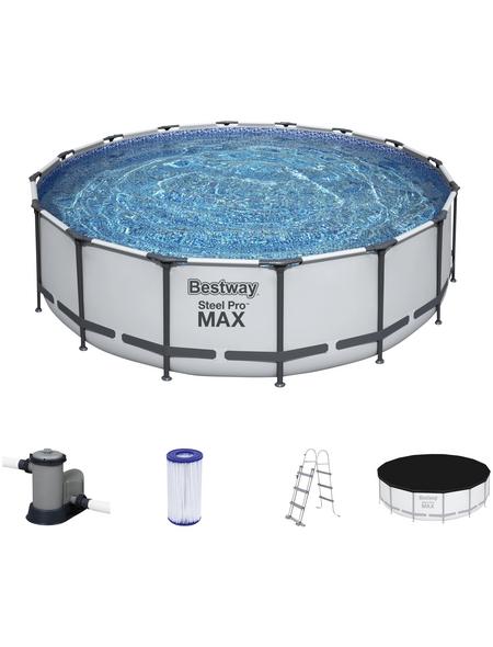 BESTWAY Rundpool »Steel Pro Max™«, grau, ØxH: 488 x 122 cm