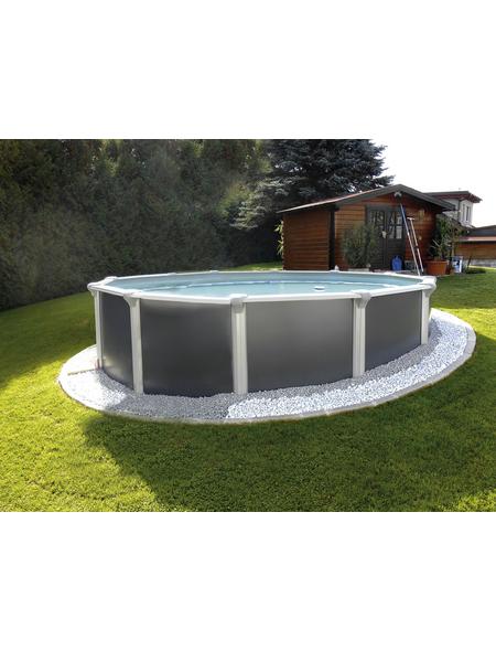 KWAD Rundpool »Steely Supreme Design «, grau, ØxH: 460 x 132 cm