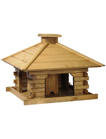 DOBAR Rustikales Vogelhaus mit Holzdach