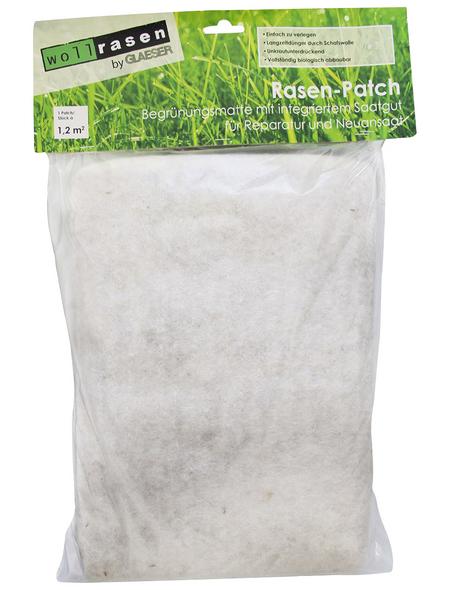 Saatgutmatte »Wollrasenpatch 1,2 m²«, Bio-Qualität