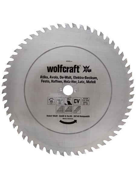 WOLFCRAFT Sägeblatt, Ø 400 mm, 56 Zähne