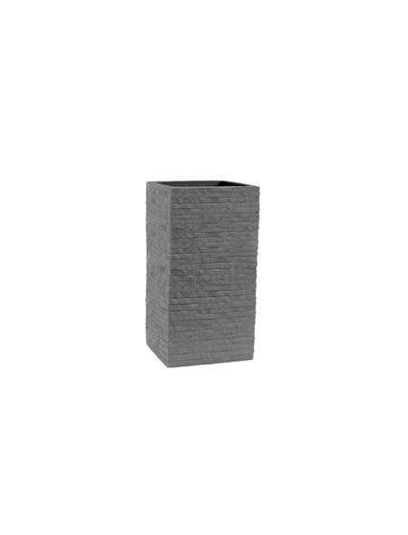 Säulentopf, BxHxT: 27 x 60 x 27 cm, steingrau