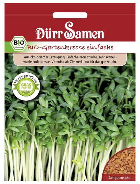 DÜRR SAMEN Samen BIO-Gartenkresse, einfache