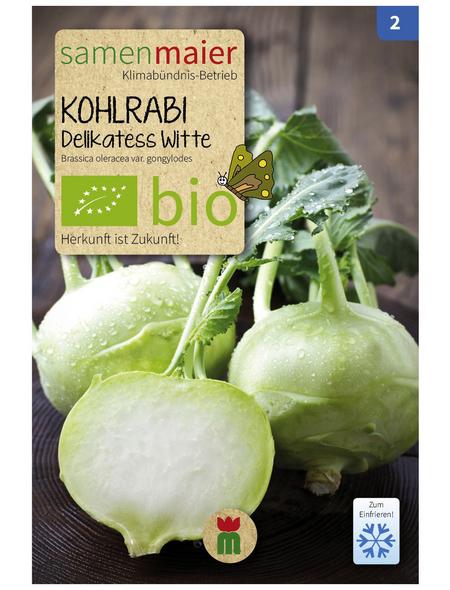 SAMEN MAIER Samen Bio Kohlrabi, Delikatess Witte, früh
