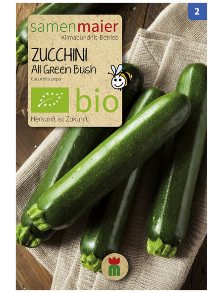 SAMEN MAIER Samen Bio Zucchini, All Green Bush,grün