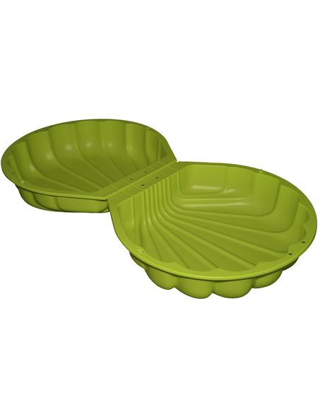 Sand-Wasser-Muschel, BxL: 88 x 88 cm, Polyethylen (PE) grün