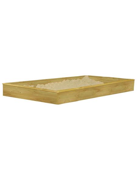 AKUBI Sandkasten »Gernegroß und Benjamin«, BxL: 201 x 247 cm, Fichtenholz natur