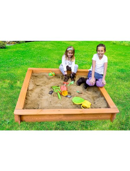 PROMADINO Sandkasten »Leonie«, BxLxH: 100x100x22 cm