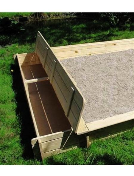PROMADINO Sandkasten-Spielzeugkasten, BxL: 225 x 28 cm, Kiefernholz natur
