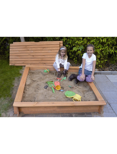 PROMADINO Sandkasten »Tessa«, BxLxH: 100x100x24 cm