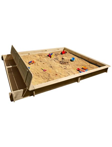 PROMADINO Sandkasten »Yanick«, BxL: 248 x 225 cm, Kiefernholz natur
