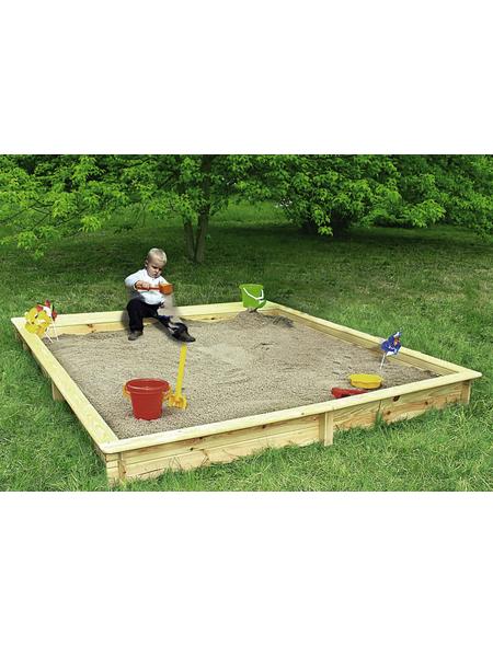 PROMADINO Sandkasten »Yanick«, BxLxH: 225x225x21 cm
