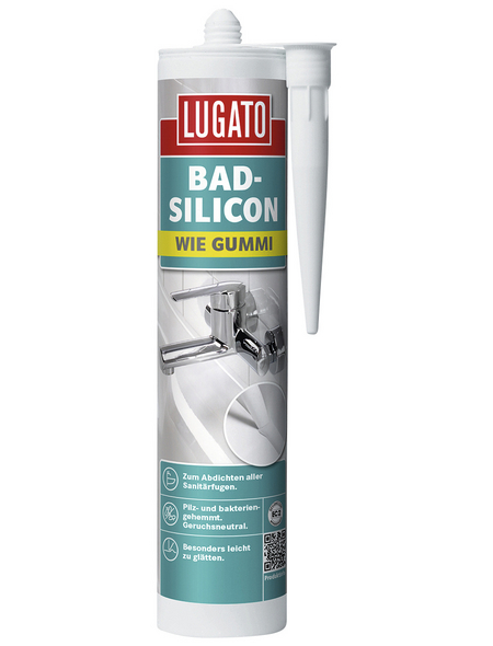 LUGATO Sanitär-Silikon »wie Gummi«, weiß, 310 l