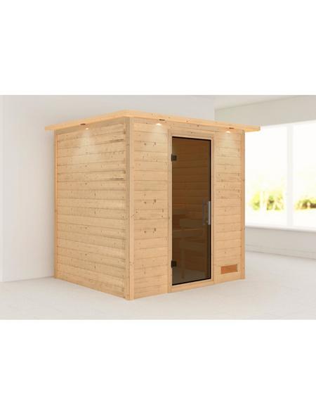 WOODFEELING Sauna »Anja«, BxTxH: 224 x 184 x 202 cm, ohne Saunaofen
