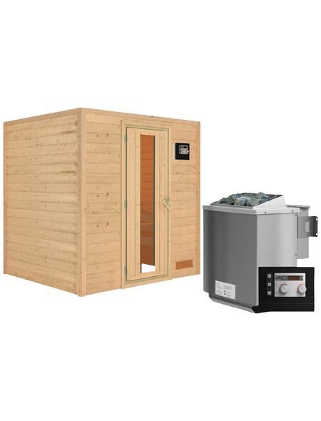 WOODFEELING Sauna »Anja«, mit Ofen, externe Steuerung
