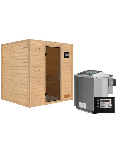 WOODFEELING Sauna »Anja« mit Ofen, externe Steuerung