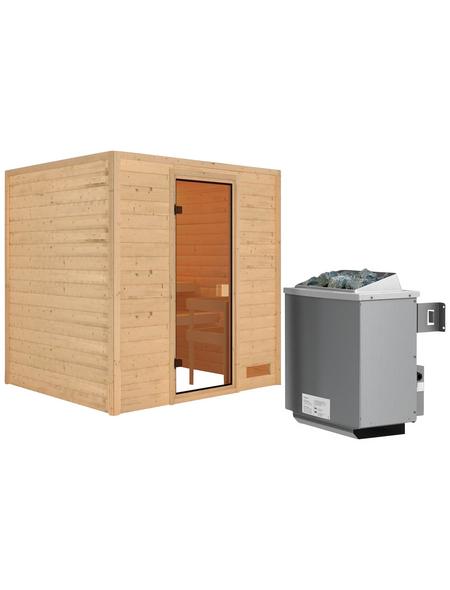 WOODFEELING Sauna »Anja«, mit Ofen, integrierte Steuerung